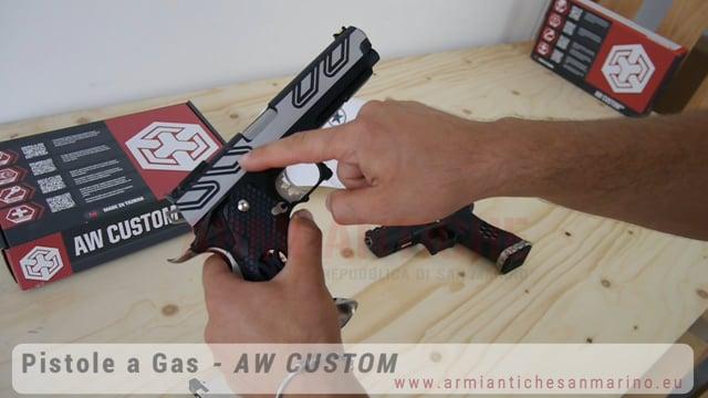Pistola a Gas HI-CAPA HX2301 - Nero / Argento - Armorer Works Custom (AW-HX2301)