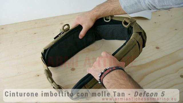 Cinturone imbottito con sistema MOLLE - Coyote Tan - Defcon 5 (D5-MB02 CT)