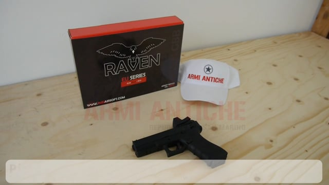 Pistola a Gas Glock 18 G18C con Red Dot - Nero - Raven (RGP-01-01-BDS)