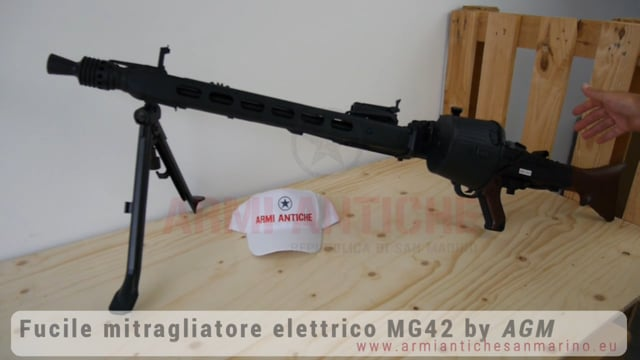 Fucile Elettrico MG42 WWII - 2000 BBs AutoRicaricante - Full Metal/Vero Legno - S&T by AGM (210033)