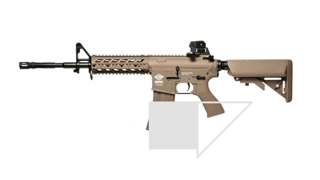 Fucile Elettrico CM16 RAIDER-Long - Tan - G&G Offerta Combo Kit