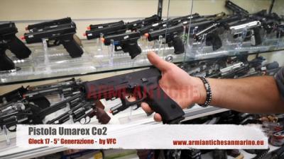 Pistola Co2 Glock 17 - 5 Gen Umarex Vfc Nera Blowback