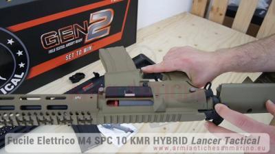 Fucile Elettrico M4 SPC 10 KMR HYBRID - Nero e Tan - ETU & MOSFET - Lancer Tactical (LK9031-LK9032)