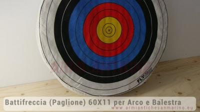 PAGLIONE ARCHI/BALESTRE 60X11 CM BERSAGLIO BATTI FRECCIA