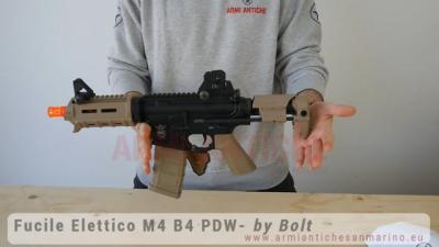 Fucile Elettrico M4 B4 PDW con Sistema Recoil - Full Metal - BOLT B.R.S.S.