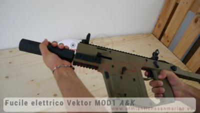 Fucile elettrico Vektor MOD1 - Car 230 BBs - Tan - A&K (211214)