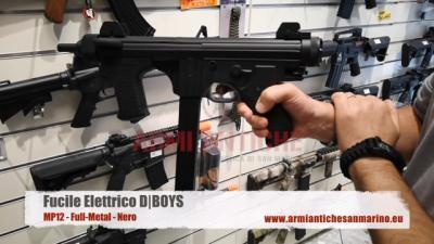 Fucile elettrico MP12 - Full-Metal - Nero - DBoys (MP12)