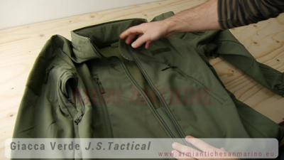 Giacca Shark Skin Impermeabile Ed Anti-Vento Interno Felpato Verde JS-TACTICAL (JW-V)