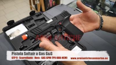 Pistola a Gas GTP 9 - Scarrellante - Nera - G&G (GAS-GPM-TP9-BBB-NCM)