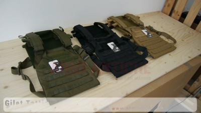Gilet Tattico Leggero - Materiale 1000D - Sistema MOLLE + Velcro - Lancer Tactical