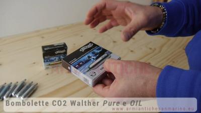 Bombolette CO2 Walther Pure e Oil lubrificante