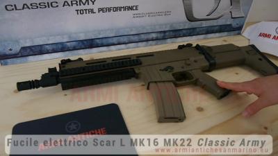 Fucile elettrico Scar L MK16 Licenza Uff. ISSC MK22 - MOSFET - Tan - Classic Army (SP102P-DE)