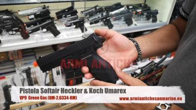 Pistola Softair VP9 Heckler&Koch green gas Umarex (UM-2.6334-RM)