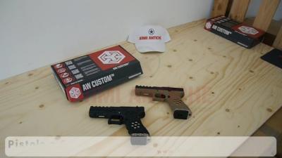 Pistola a Gas Glock 17 HEX-cut Alleggerita AW Custom