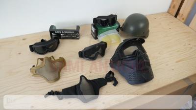 Dispositivi di protezione del viso per il Softair