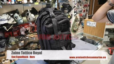 ZAINO TATTICO ROYAL CON CAMELBACK NERO