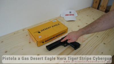 Pistola a Gas Desert Eagle - Nera Tiger Stripe - Metallo - Cybergun by WE (90510)