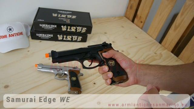 Pistola Softair Full Metal Beretta 92FS Scarrellante RESIDENT EVIL 5 a Gas - Nera e Cromata