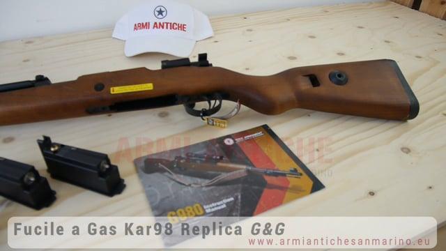 Fucile Softair a Gas G980 Kar98 - Full Metal & Legno vero - G&G (GG-G980)