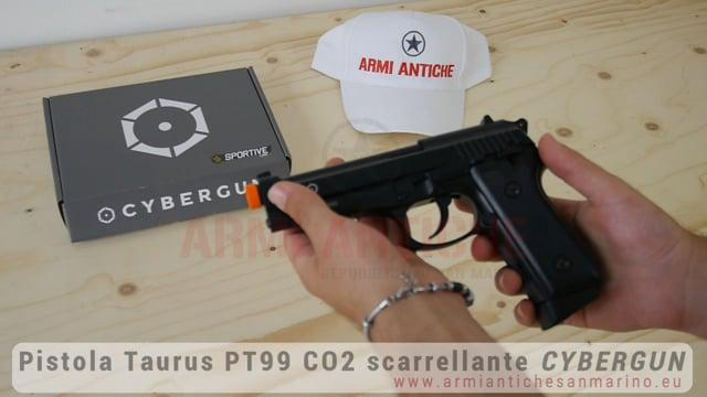 Pistola Softair TAURUS PT99 AUTO CO2 SCARRELLANTE FULL METAL