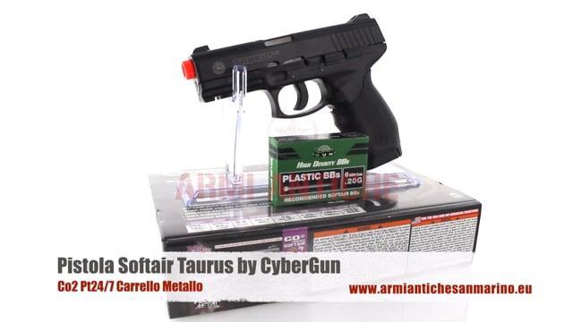 Pistola Taurus Co2 Pt24/7 Carrello Metallo Cybergun