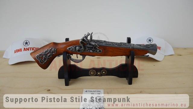 Supporto Singolo Steampunk - In Legno - Nero - MedioEvo (52/1B.01)