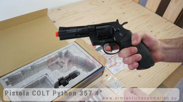 "Pistola Softair Revolver A Co2 Python 357 4"" Colt"