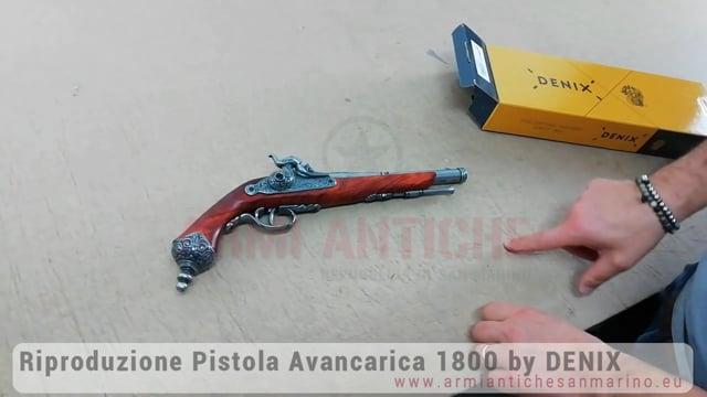 Riproduzione Pistola Italiana Avancarica del 1800 by Denix