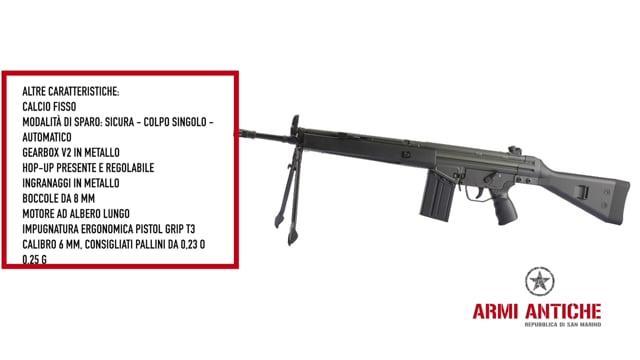 Fucile Elettrico T3-K4 Modello G3 SG1 con Bipiede - Nero - J.G. Works