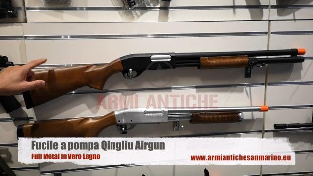 Fucile A Pompa Full Metal In Vero Legno QINGLIU AIRGUN
