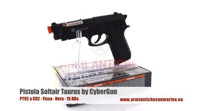 Pistola PT92 a CO2 - Fissa - Nera - 15 BBs - Taurus by CyberGun (210308)