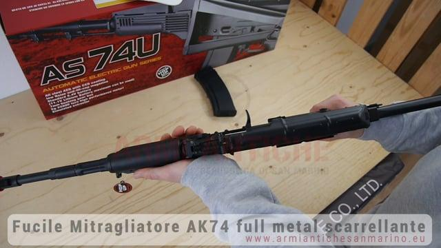 AK74 TACTICAL FULL METAL NERO (SCARELLANTE)