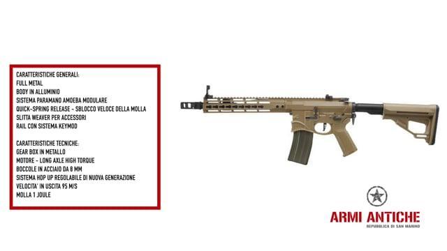 "Fucile elettrico M4 Hellbreaker SBR Advanced 10"" Tan Sharps Bros"