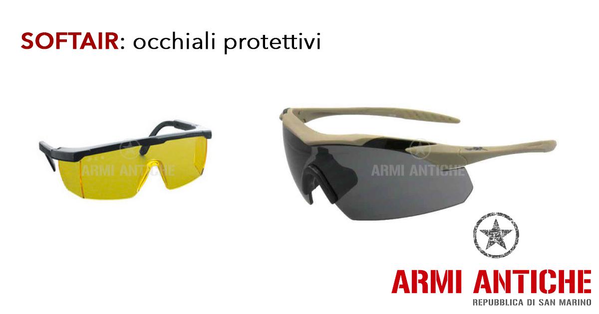 Occhiali protettivi tattici per Softair
