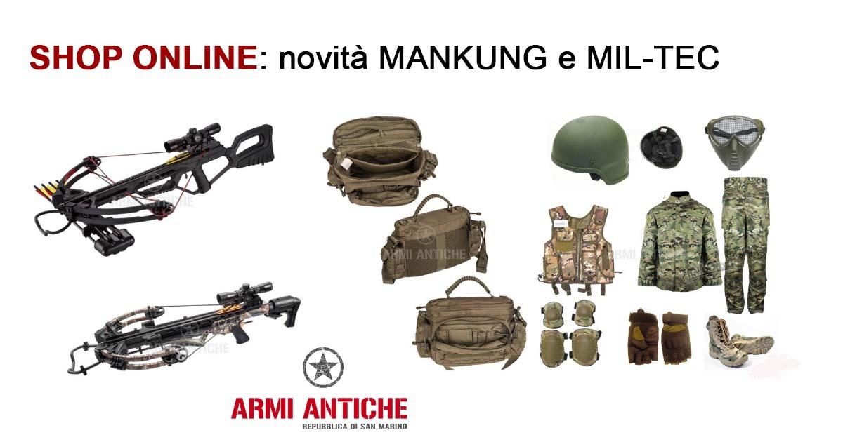 [Nuovi Arrivi] Balestre Mankung e attrezzatura Mil-Tec