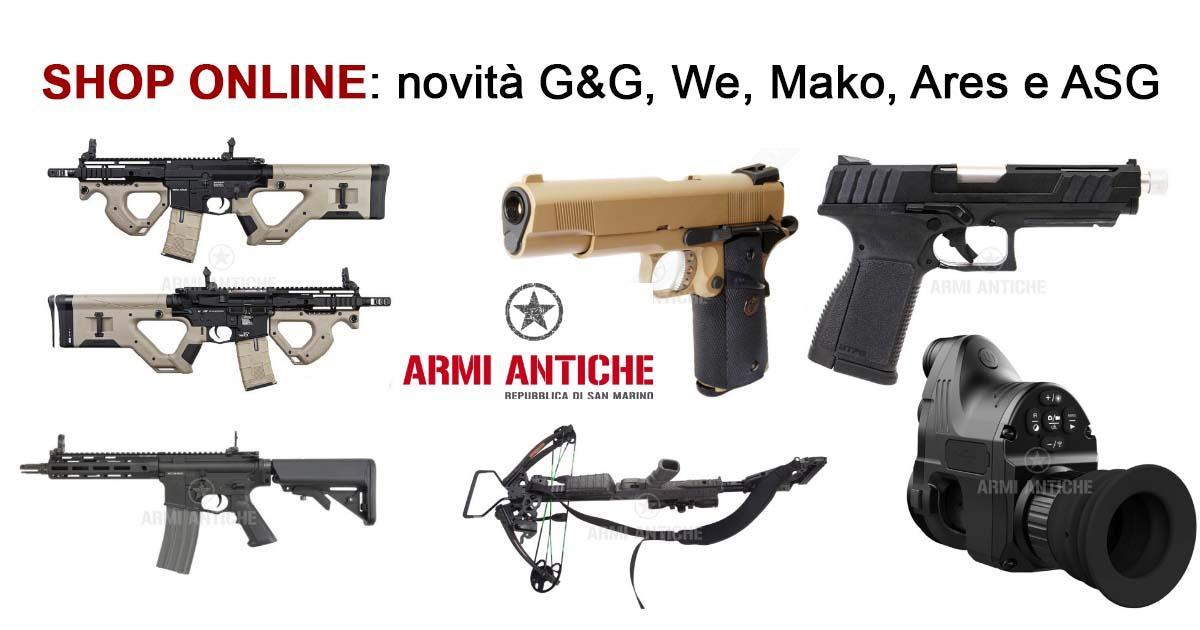 Le novità di questa settimana su Armi Antiche
