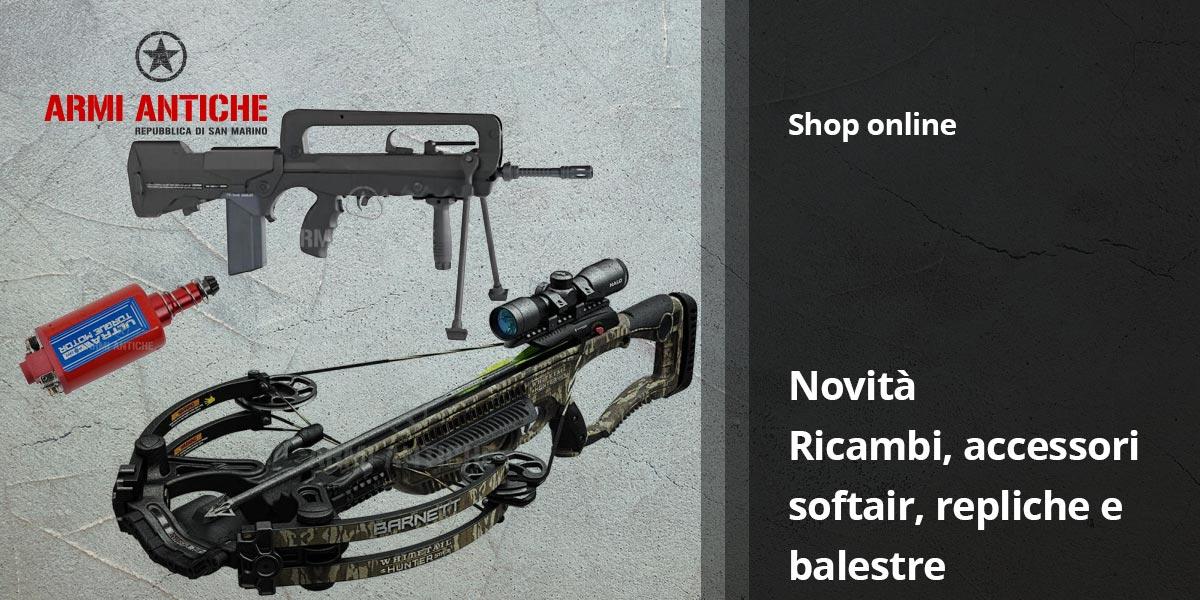 Nuovi Arrivi: balestre, airsoft gun, ricambi ed accessori softair