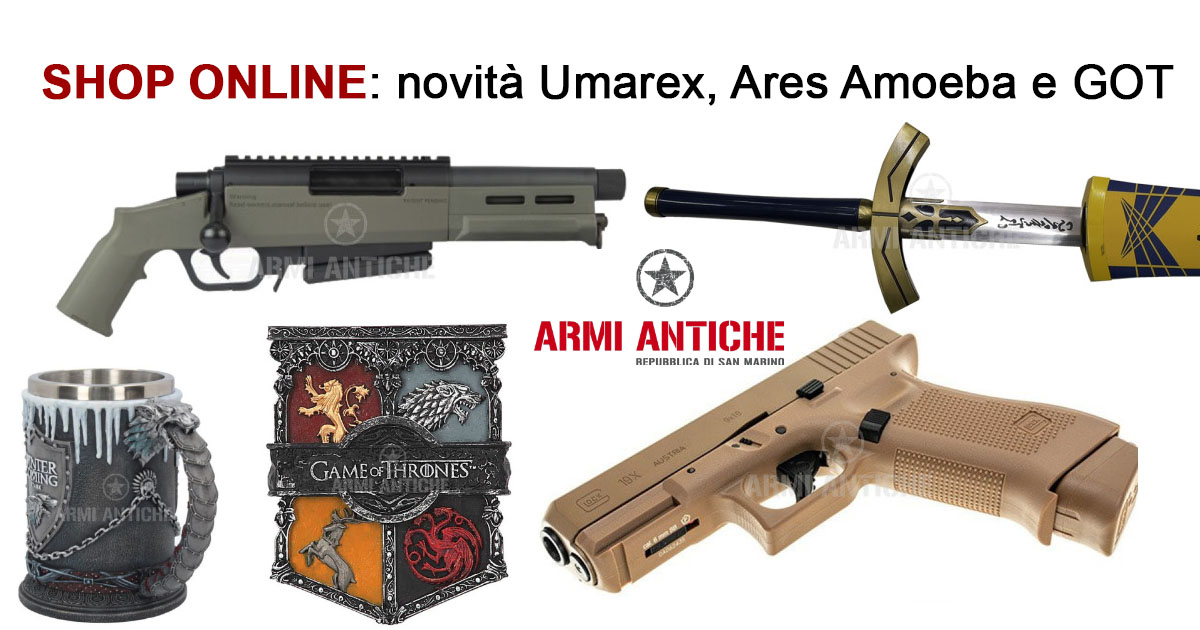 [Nuovi Arrivi] Fucili per softair Ares, pistole Umarex e accessori Got