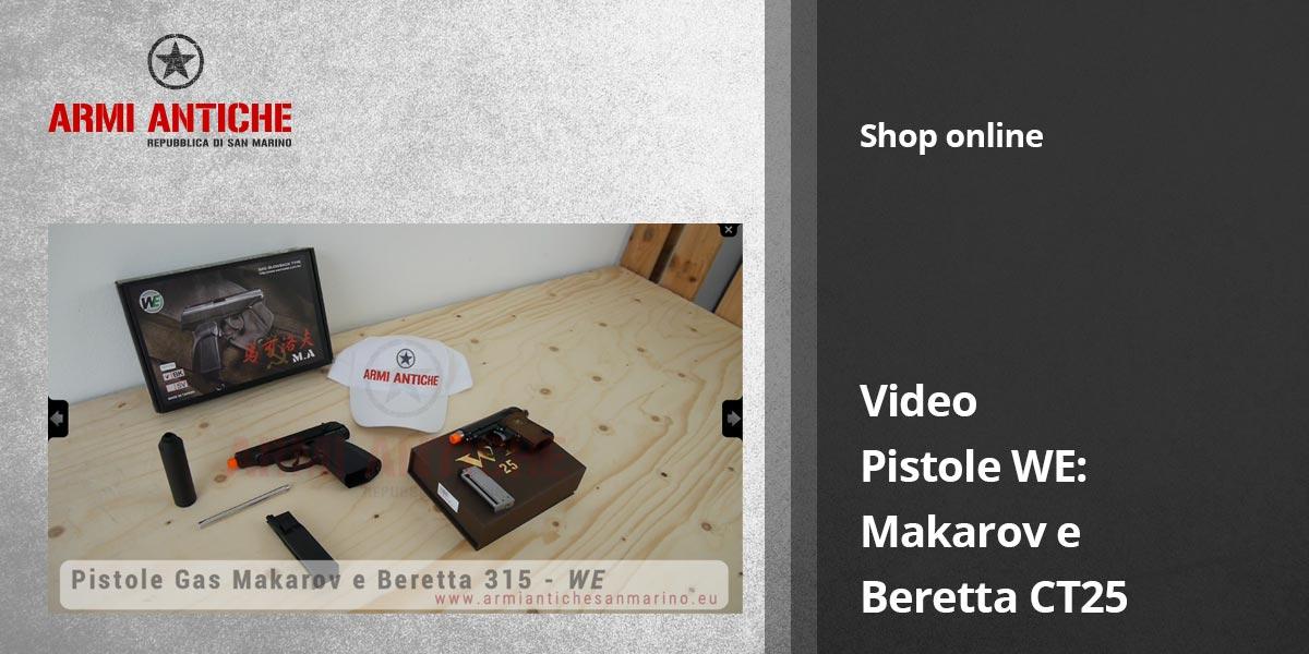 Video: Pistole WE: Makarov e Beretta CT25