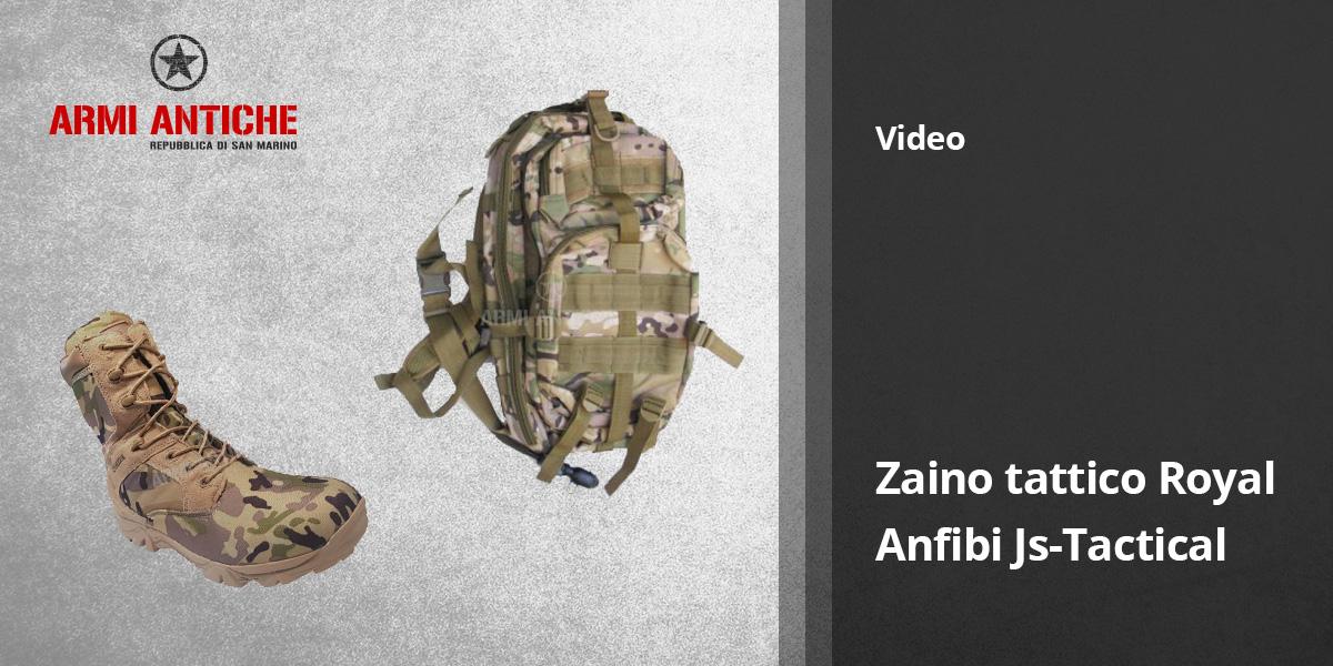 [Video] Anfibi JS-Tactical e zaino Royal